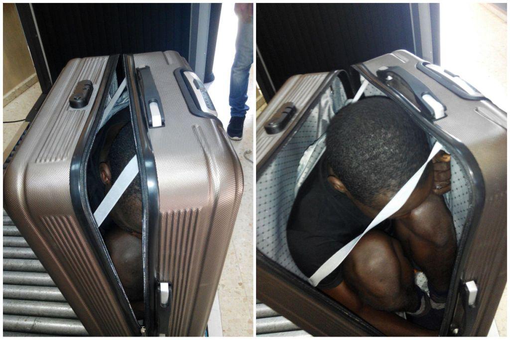 беженцы из Африки, чемодан