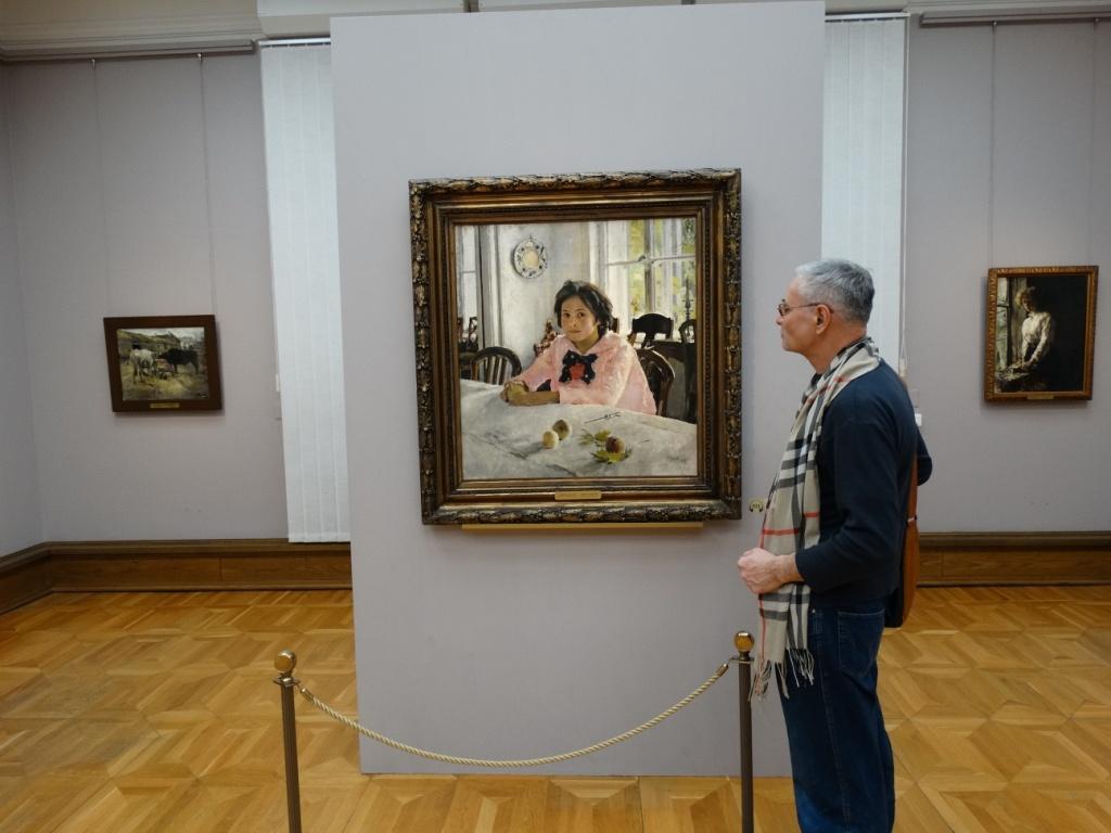 Третьяковская галерея,Аркадий Константинов,Девочка с персиками,В. Серов