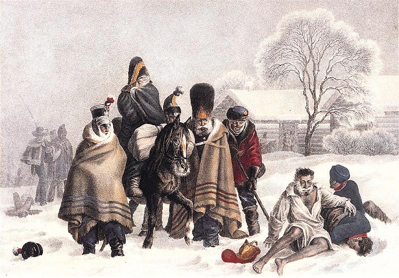 наполеоновская армия,мороз,отступление