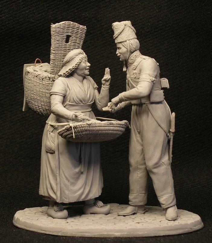 статуэтка, казак,французская торговка