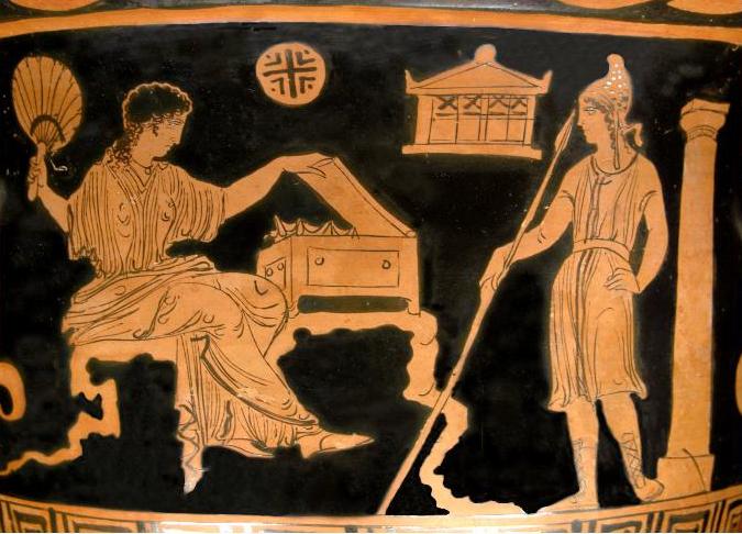 ящик Пандоры,античная амфора