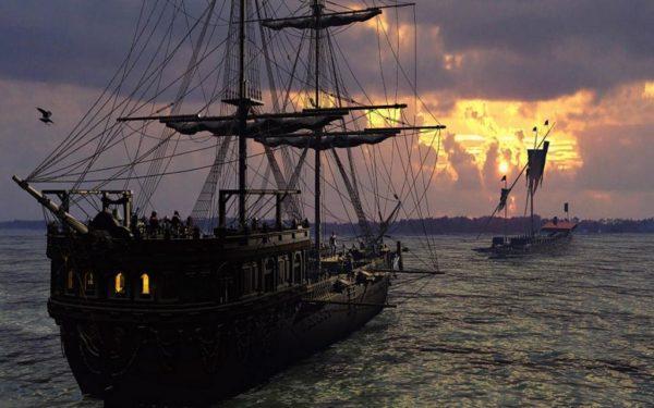 парусники на море