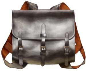 старинный кожаный ранец