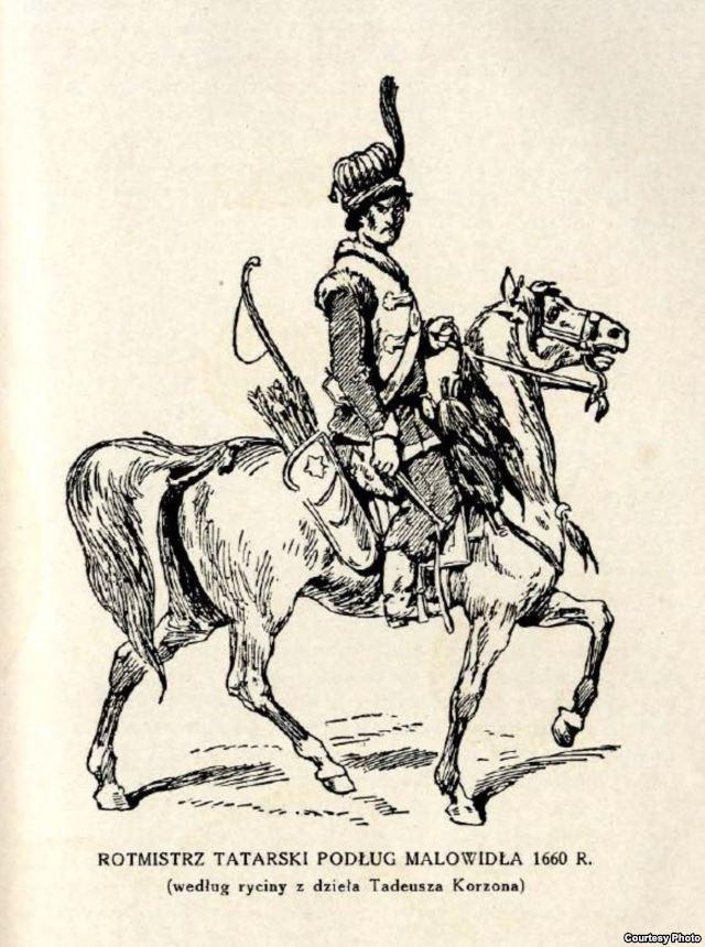 лук со стрелами, татарский воин на коне