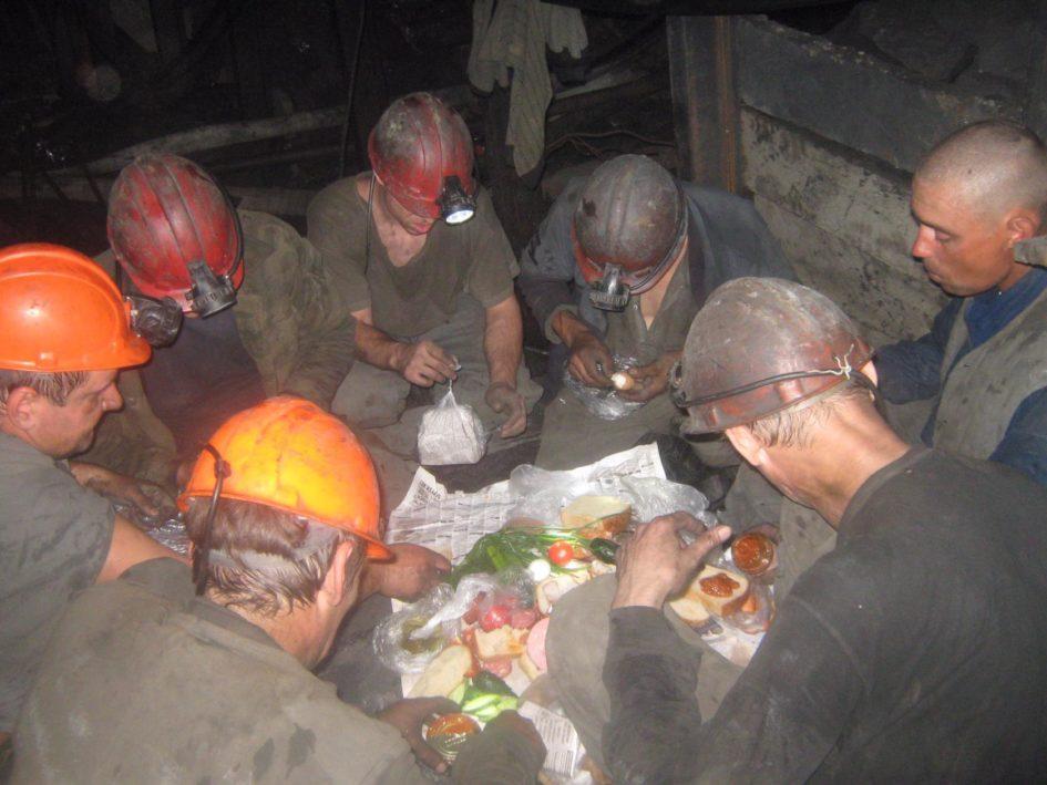 шахтёр,обед,тормозок