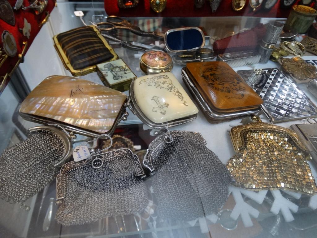старинный кошелёк,металлический плетёный,перламутровый