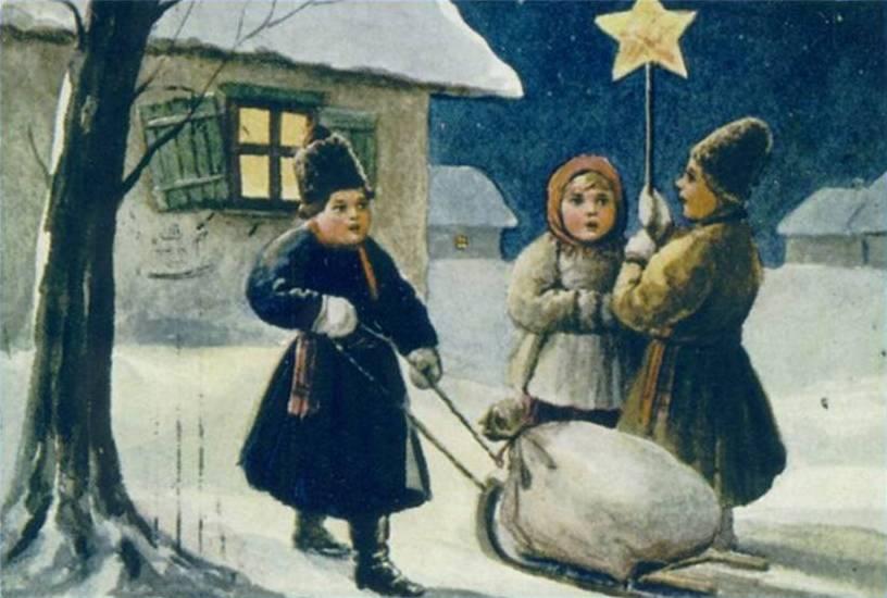 Рождественская открытка нач. XX в.