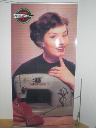 Швейная машина Zündapp, рекламный плакат