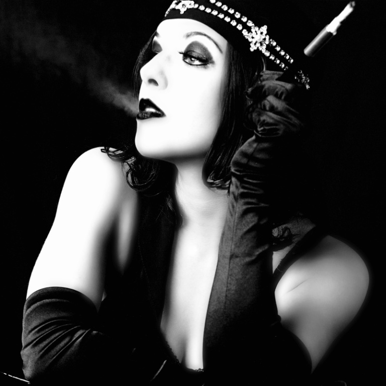 ретро-фото женщина-вамп