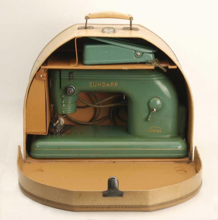 Электрическая швейная машина, полукруглый футляр