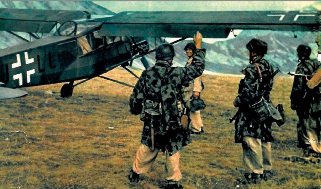 немецкий военный самолёт «Fieseler Storch»