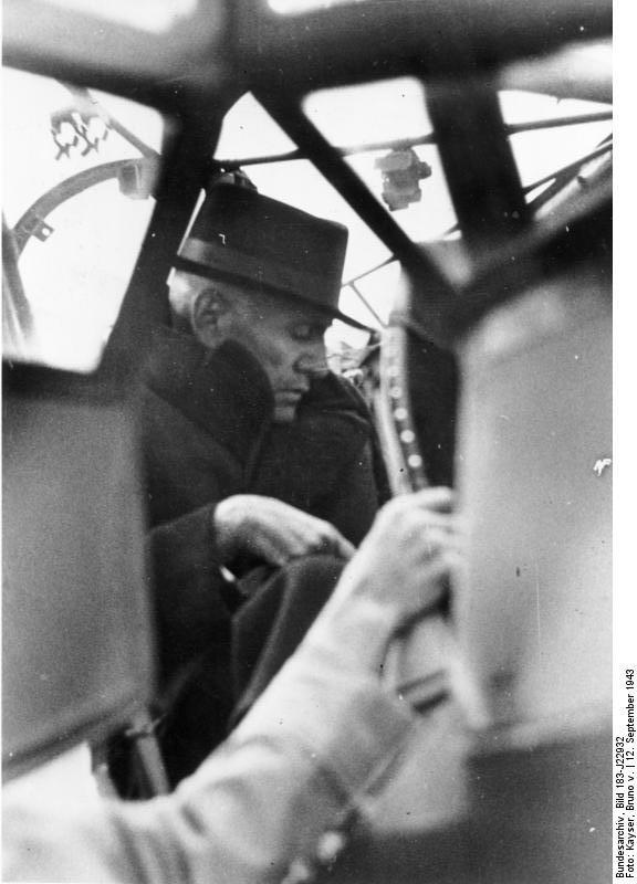 Муссолини в самолёте