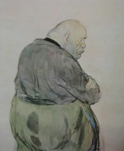 карикатура на Муссолини