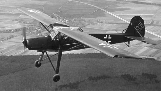 немецкий самолёт «Fieseler Storch»