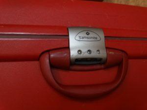 чемодан, Самсонайт, кодовый замок чемодана