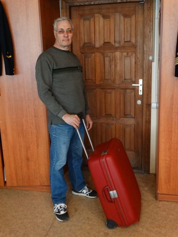 Аркадий Константинов,чемодан Самсонайт