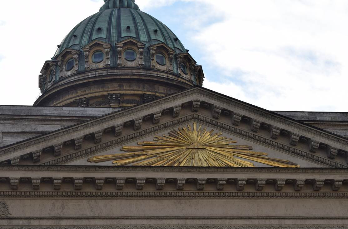 Масонская символика на Казанском соборе