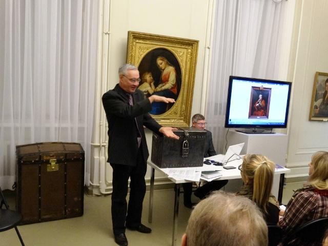 Аркадий Константинов,каретный сундук,лекция в Пермской художественной галерее