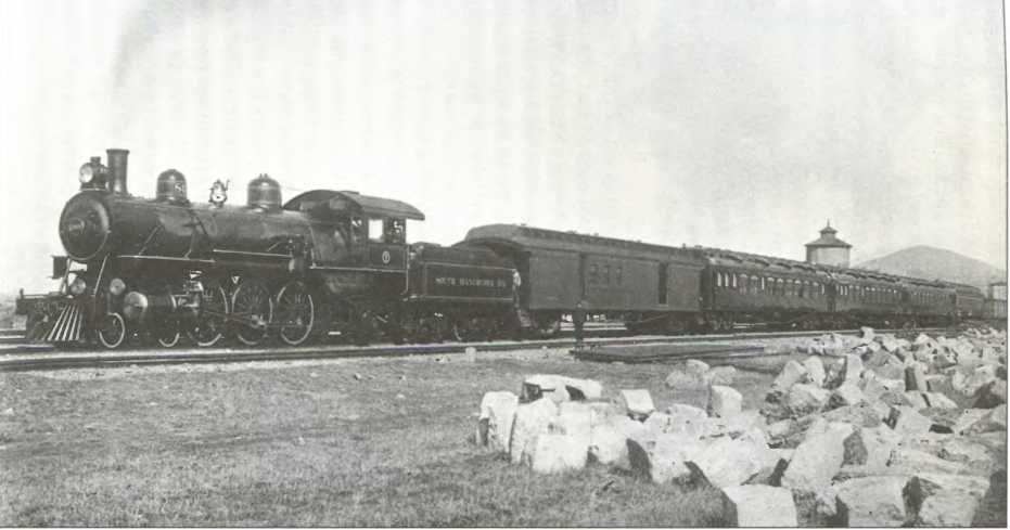 паровоз на старинном фото