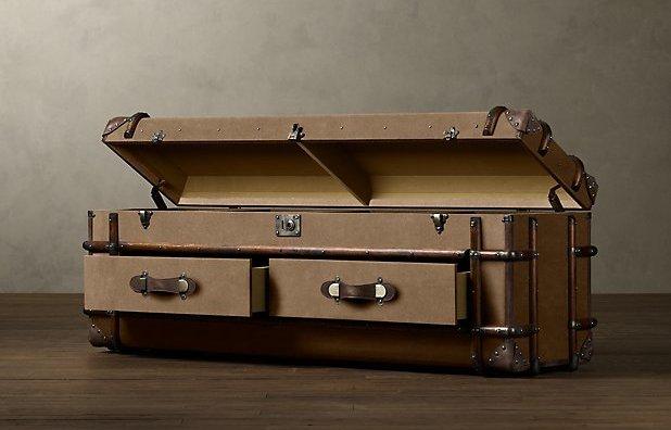 чемодан-тумбочка,Restoration Hardware