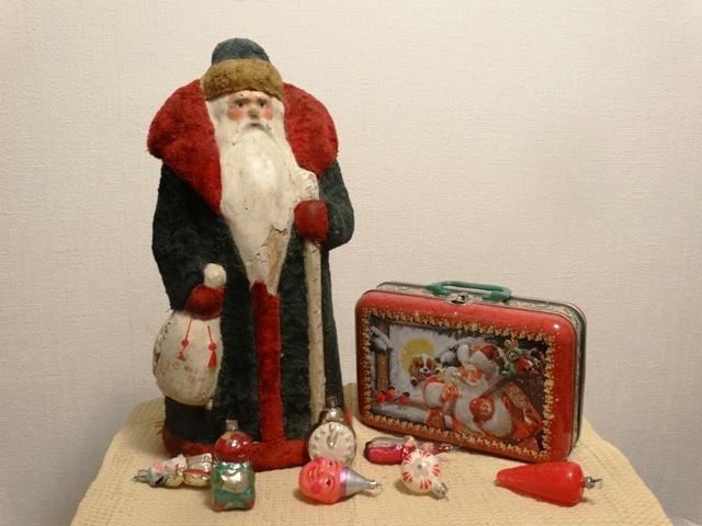 Старинный Дед Мороз,новогодний чемоданчик