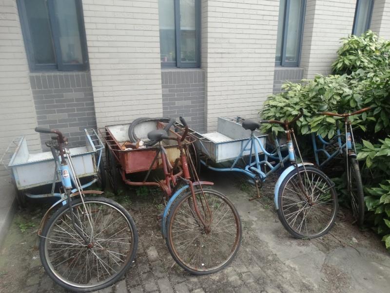 Велосипед-тачка. Китай
