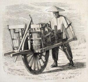 тачка с корзинами,Китай