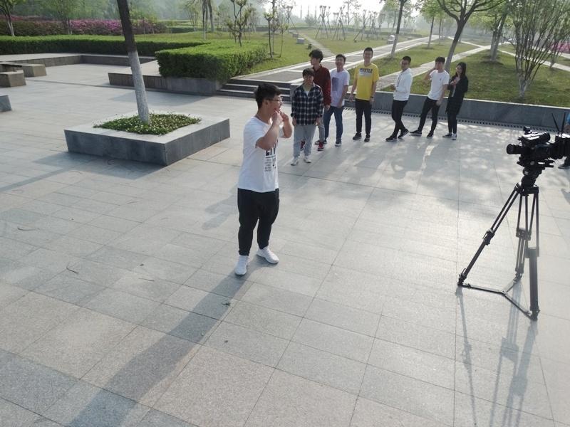 Китай,Анхойский университет,студенты снимают кино
