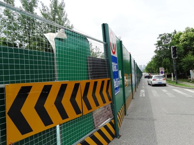 ограждение стройки в Китае