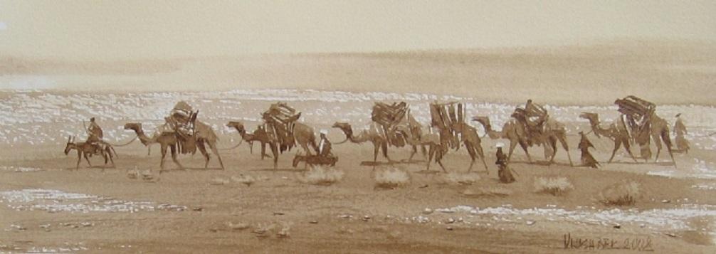 караван верблюдов,чайный