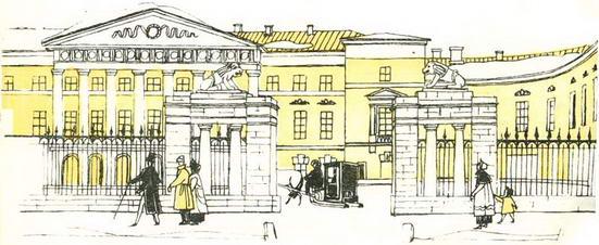 старинный рисунок,английский клуб