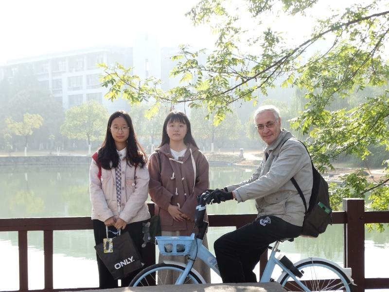 велосипед, Китай, китаянки