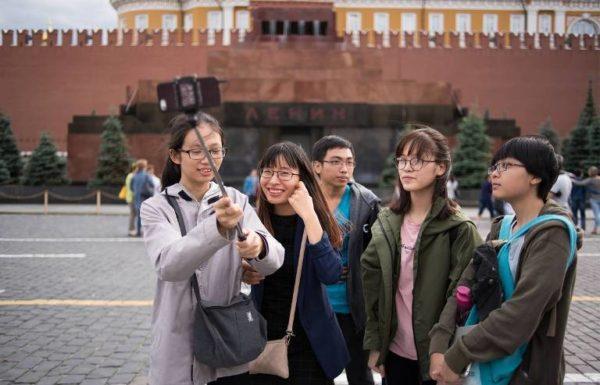 китайские туристы,мавзолей Ленина