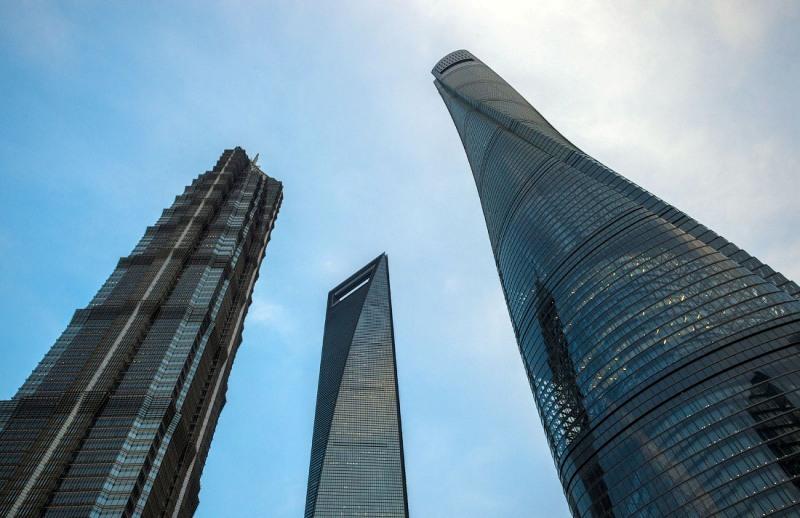 небоскрёбы Шанхай,Шанхайская игла,Всемирный финансовый штаб, Цзинь Мао