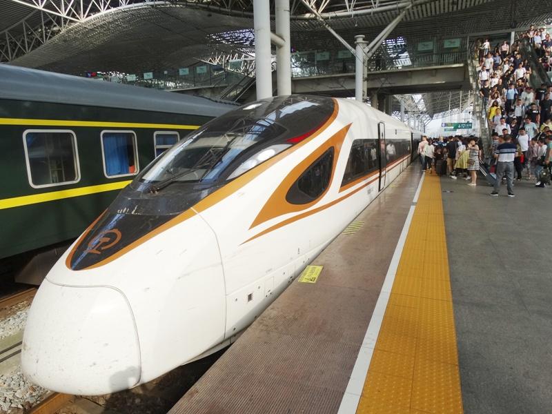 Китай, высокоскоростной поезд