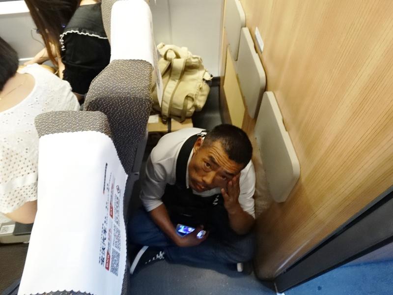 пассажир в китайском поезде
