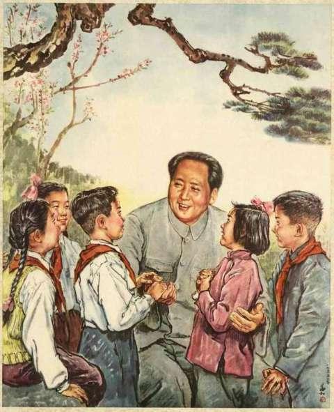 Мао Цзэдун и дети рисунок