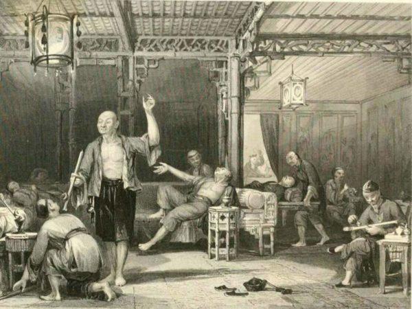 рисунок курильня опиум