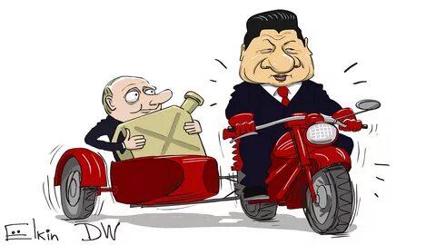 карикатура Путин и Си Цзиньпин