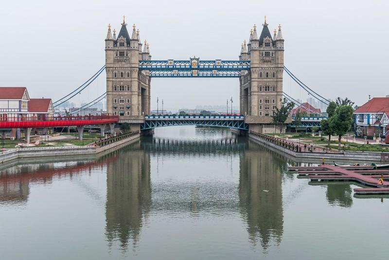 Китайский мост-клон Тауэр бридж,Сучжоу