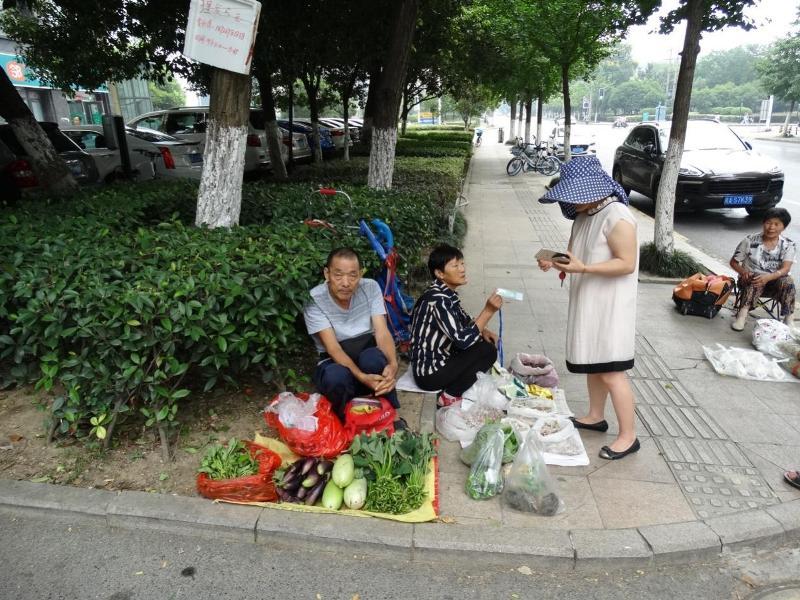 уличная торговля Китай