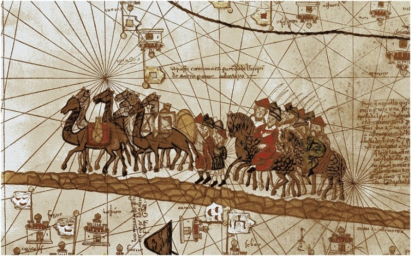 караван старинный китайский рисунок