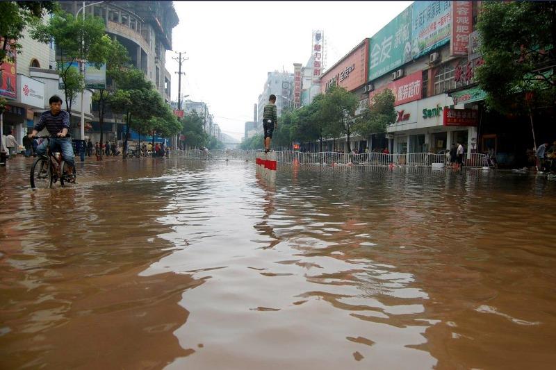 наводнение в городе