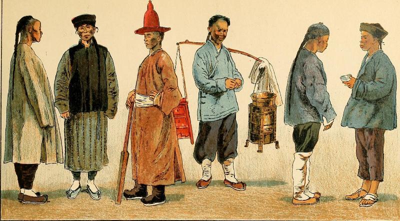 Китайцы старинная китайская картинка