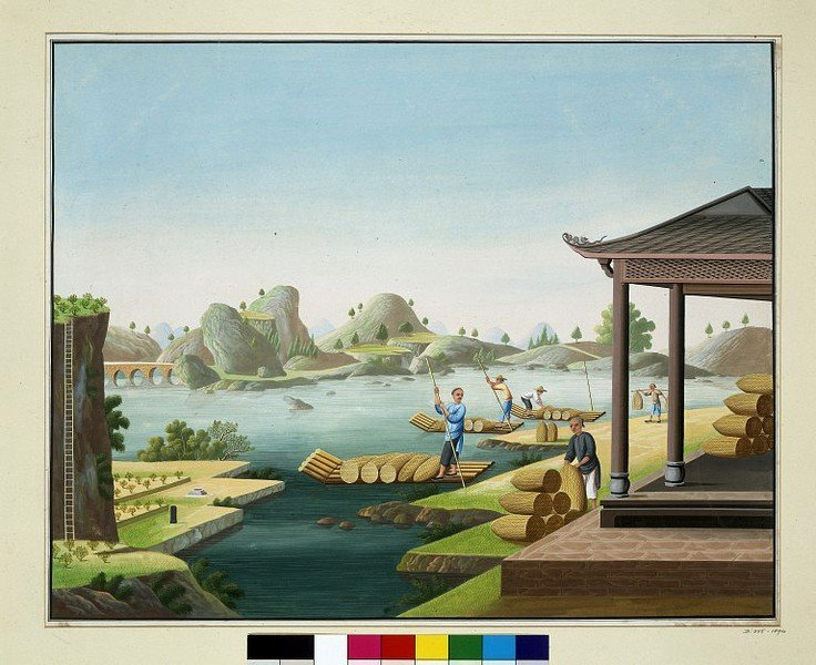 старинный китайский рисунок
