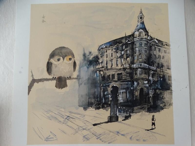 картина современное искусство сова