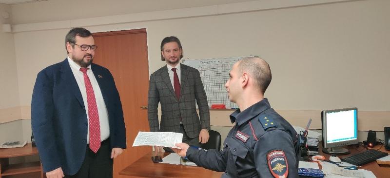 Меньшиков в участке полиции