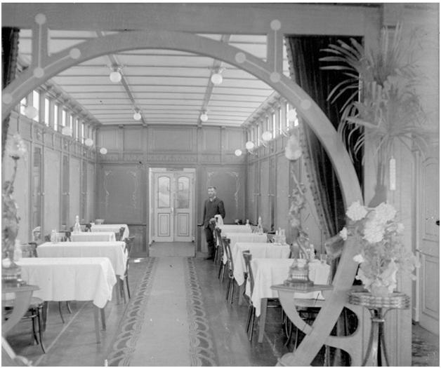 ресторан речного судна начала 20 века