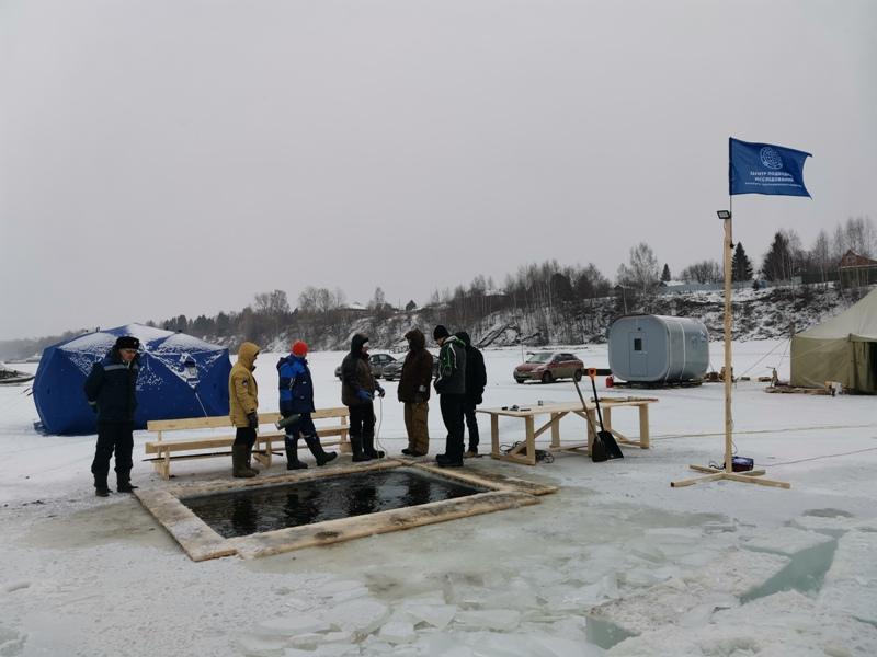 зимний лагерь дайверов